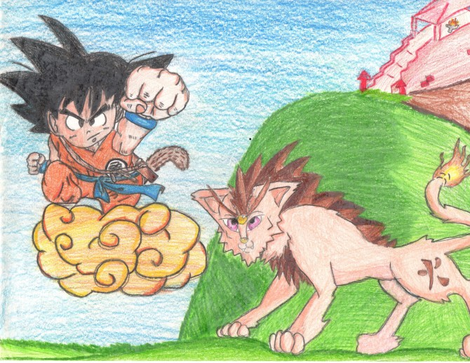 Dragon ball and manga drawing
